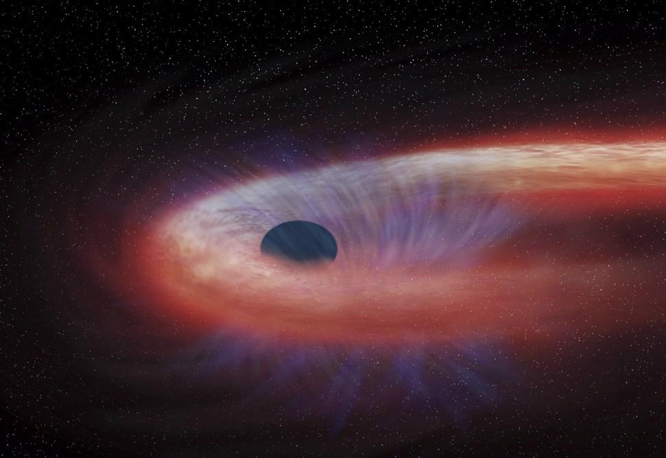 Imagen de un agujero negro proporcionada por la Nasa; científicos dicen haber obtenido una fotografía de ese fenómeno astrofísico (AP, archivo)