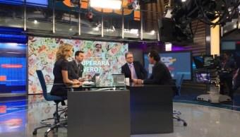 Alberto Elías Beltrán en la mesa de Despierta con Loret. (Twitter, @NTelevisa_com)