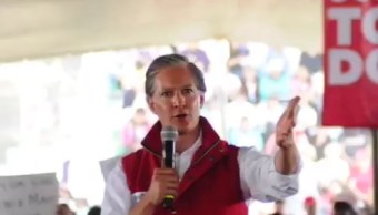 Alfredo del Mazo, candidato al gobierno del Estado de México, realiza mitin en Los Reyes La Paz (Twitter @alfredodelmazo)