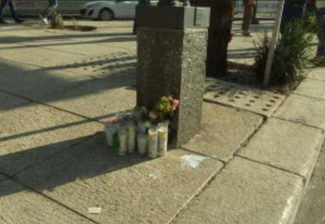 En el lugar donde murieron cuatro personas hay veladoras (Noticieros Televisa)
