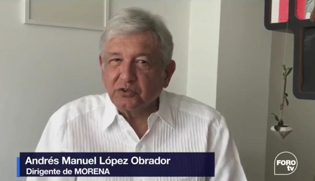 Andrés Manuel López Obrador, líder de Morena. (FOROtv)