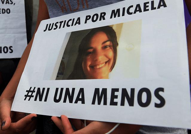 Ciudadanos de Rosario, Argentina, se movilizaron para exigir justicia por Micaela García, una joven asesinada en Gualeguay (EFE)