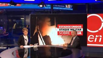 Denise Maerker y Mauricio Meschoulam analizan la situación en Siria. (Noticieros Televisa)