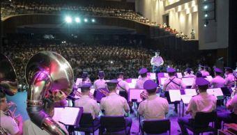 Banda de Música de la VII Región Militar ofrece concierto en Tapachula, Chiapas