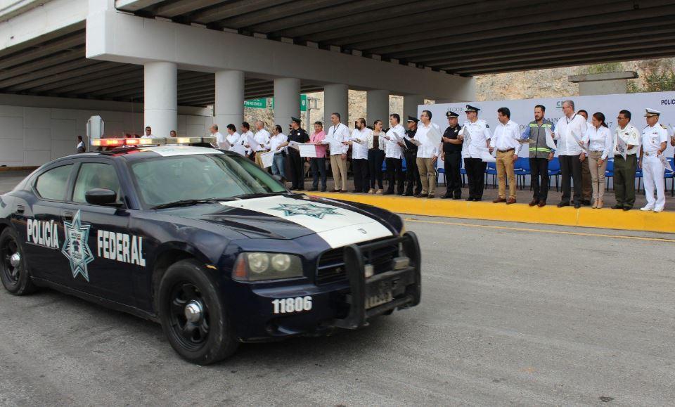 Policías federales participarán en operativos de seguridad en Campeche (Twitter @eliasibps)