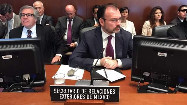 Luis Videgaray, secretario de Relaciones Exteriores. (Notimex)
