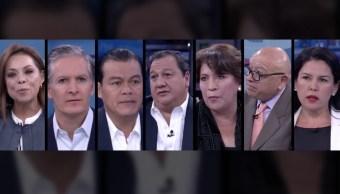 Candidatos al gobierno del Estado de México en la mesa de Despierta con Loret. (Noticieros Televisa)