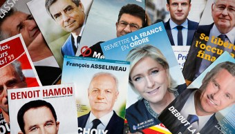 Candidatos a la presidencia en Francia. (Getty Images)