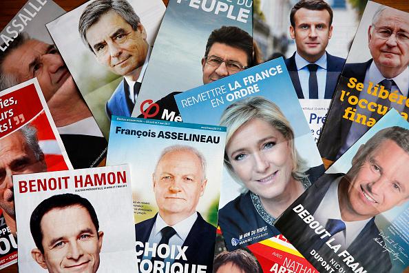 Candidatos a la presidencia en Francia. (Getty Images)