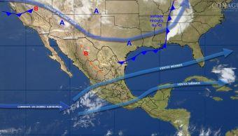 Mapa con el pronóstico del clima para este 27 de abril; sistema de alta presión provoca ola de calor en México. (SMN)
