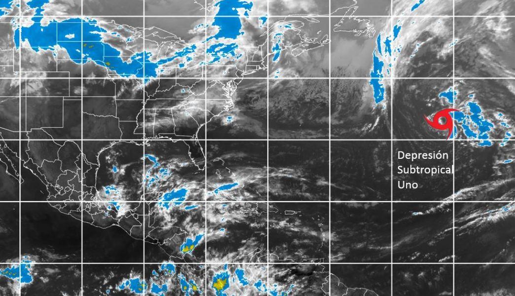 Fuera de temporada se forma depresión subtropical en el Atlántico. (Twitter @conagua_clima)