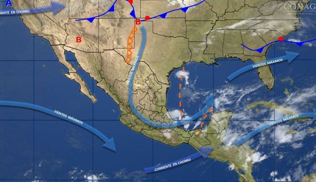 Mapa con el pronóstico del clima para este 19 de abril; seguirán las lluvias en gran parte de México. (SMN)