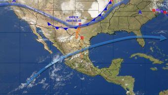 Mapa con el pronóstico del clima para este 25 de abril; predominará ambiente seco y caluro en la mayor parte de México. (SMN)Mapa con el pronóstico del clima para este 25 de abril; predominará ambiente seco y caluro en la mayor parte de México. (SMN)