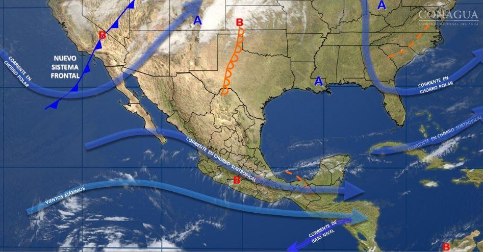 SMN pronostica tormentas fuertes en siete estados por canal de baja presión