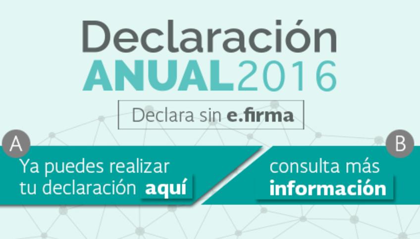 Para realizar la Declaración anual 2016 hay que ingresar a la página del SAT. (sat.gob.mx)