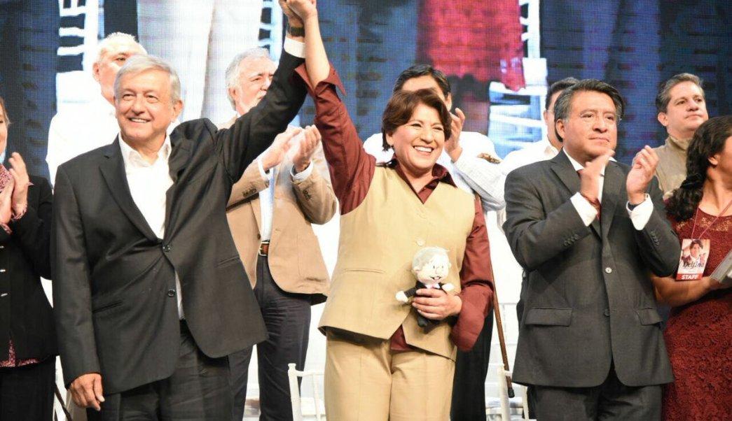 'Voy a la luchar contra la corrupción', asegura Delfina Gómez. (Twitter: @delfinagomeza)