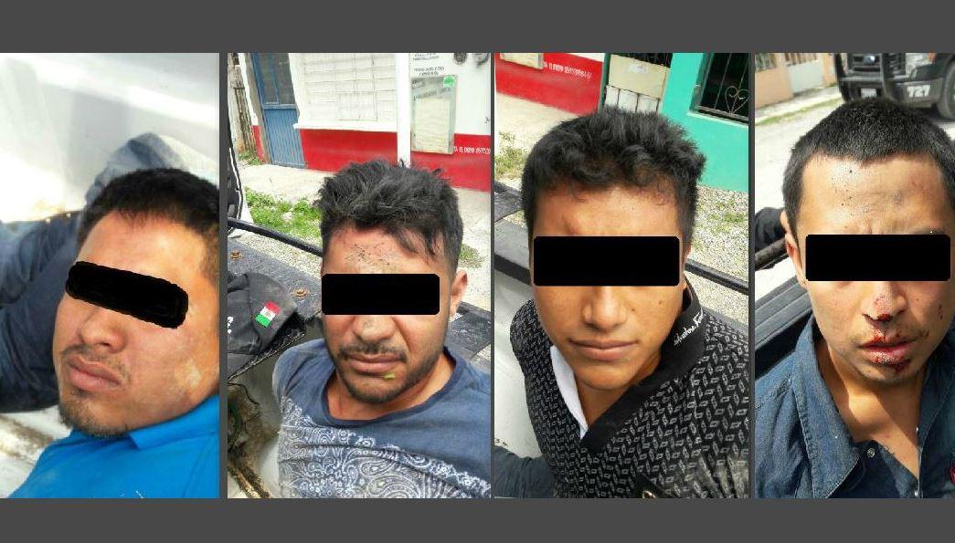 Detenidos por el Grupo de Coordinación Tamaulipas por pertenecer a un grupo delincuencial. (GCT)