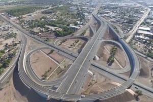 El Entronque de la Carretera México 15- LosMochis tiene una longitud de 9.2 km. (Twitter @SCT_mx)