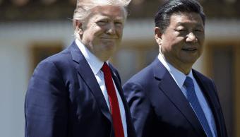Donald Trump y Xi Jinping durante su encuentro en Mar-a-Lago, Florida, el 7 de abril. (AP, archivo)