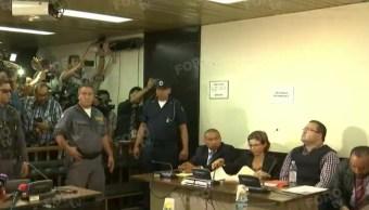 Javier Duarte, exgobernador de Veracruz, asiste a audiencia en tribunal de Guatemala (Noticieros Televisa)