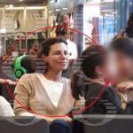 Karime Macías, esposa de Javier Duarte, e hijos fueron captados en un aeropuerto. (Noticieros Televisa)