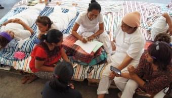 A nueve días de protesta son nueve las enfermeras que se encuentran en huelga de hambre en Tuxtla Gutierrez, Chiapas. (Twitter: @CdhFrayba)