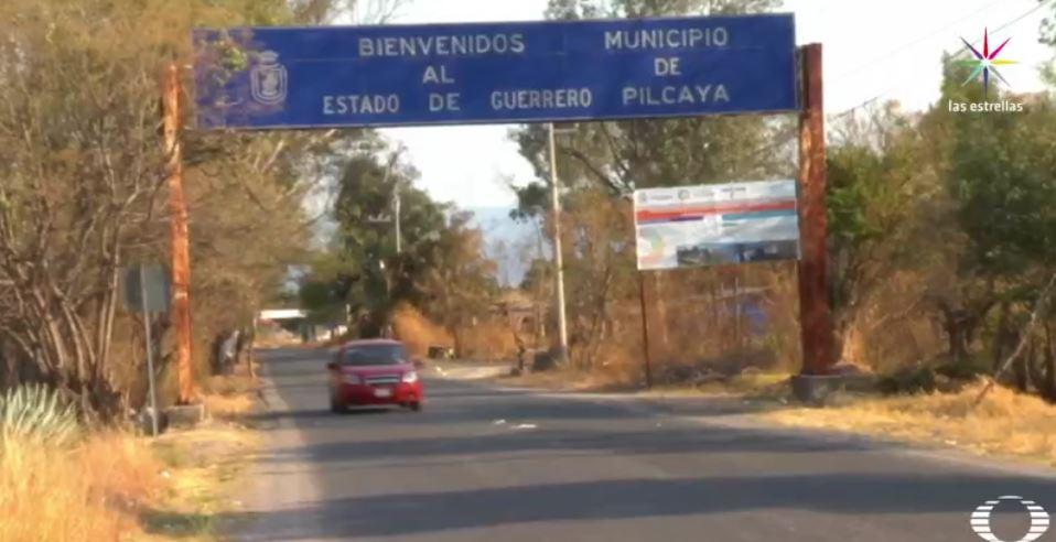 Entrada al municipio de Pilcaya, Guerrero (Noticieros Televisa)