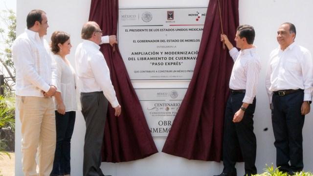 El presidente Enrique Peña Nieto entrega la ampliación y modernización del Libramiento de Cuernavaca. (Presidencia de la República)