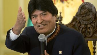 Evo Morales, presidente de Bolivia, habló sin la ronquera que le afectaba. (AP)