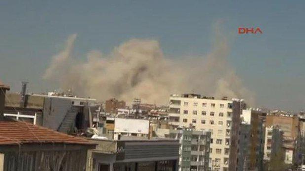 La explosión se regsitró en el barrio de Baglar. (Twitter: @cnnturk)