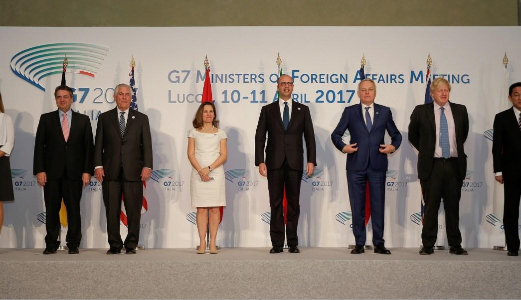 Ministros de Relaciones Exteriores del G7 se reúnen en Lucca, Italia; los funcionarios dicen que la solución al conflicto sirio debe ser político y no militar (Reuters)