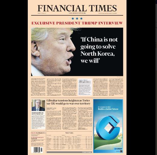 Donald Trump presiona a China ante visita del presidente Xi Jinping