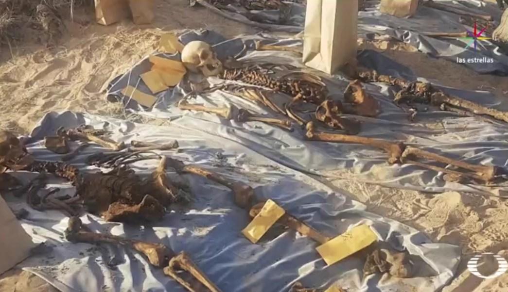 Las autoridades estiman que los hallazgos en el desierto podrían aumentar. (Noticieros Televisa)