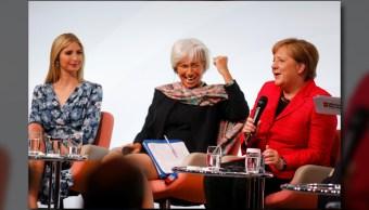 Ivanka Trump, Christine Lagarde y Angela Merkel, juntas en Berlín, en la cumbre de mujeres del G20, denominada Women 20 (W20) (Reuters)