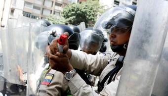 Fuerzas Seguridad Bloquean Calle Caracas Venezuela