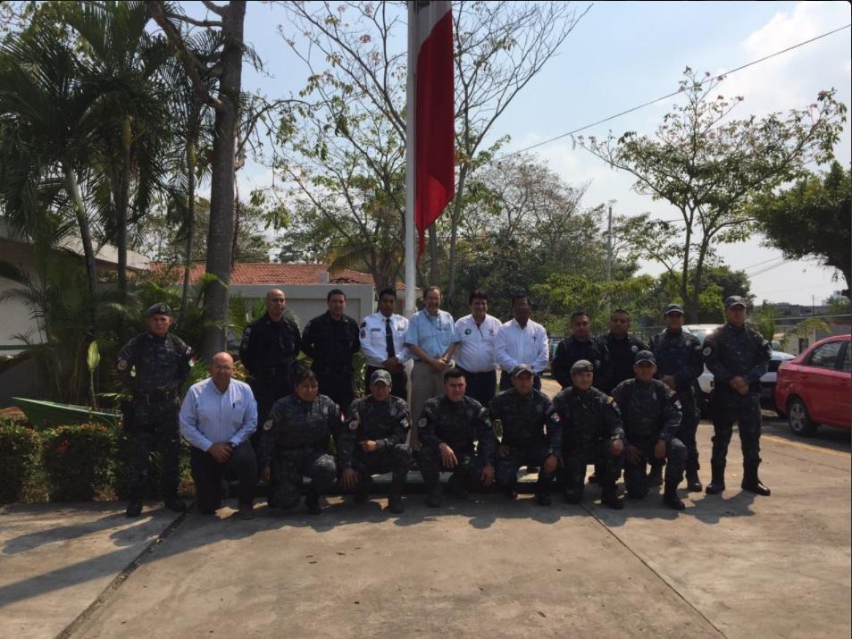 Elementos de la Gendarmería son capacitados para vigilar la Biosfera de Calakmul (Twitter @CONANP_mx)