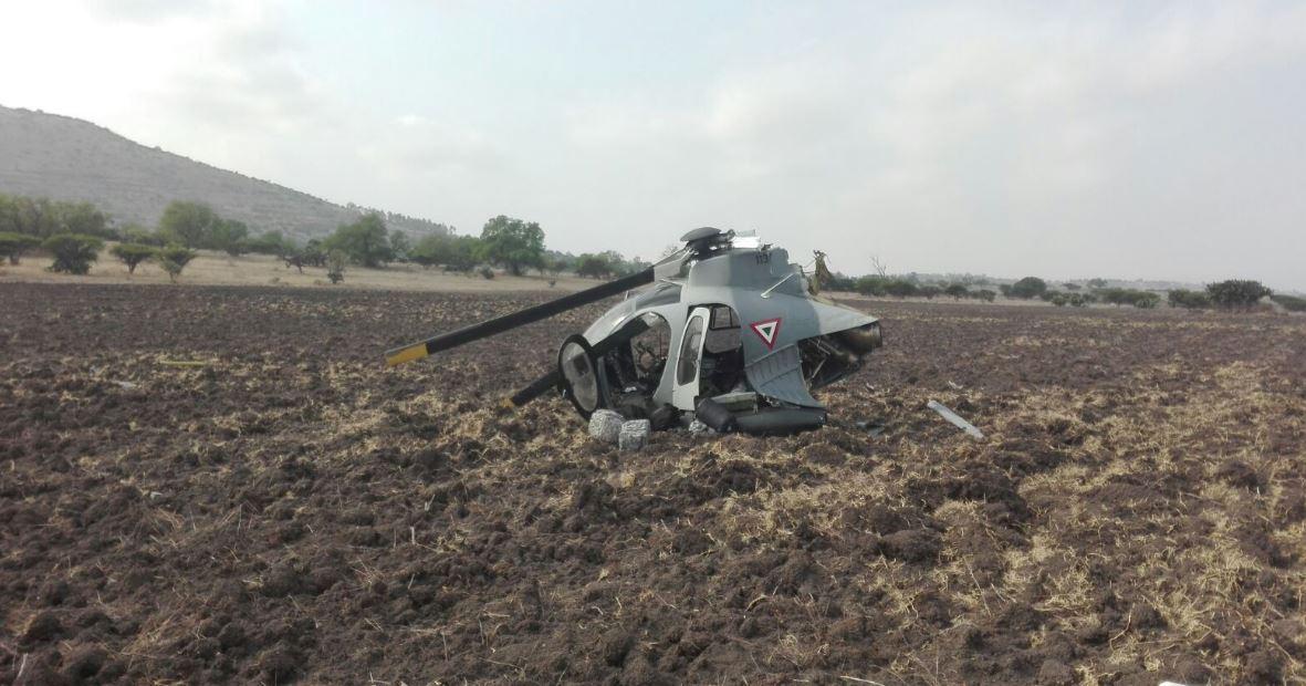 Se desploma helicóptero en Edomex; no reportan víctimas fatales