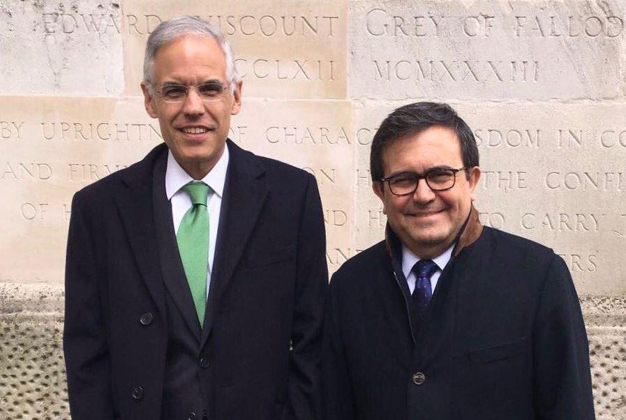 El secretario de Economía presentó al nuevo embajador de México ante el Reino Unido, Julián Ventura (Twitter/@JulianVenturaV)