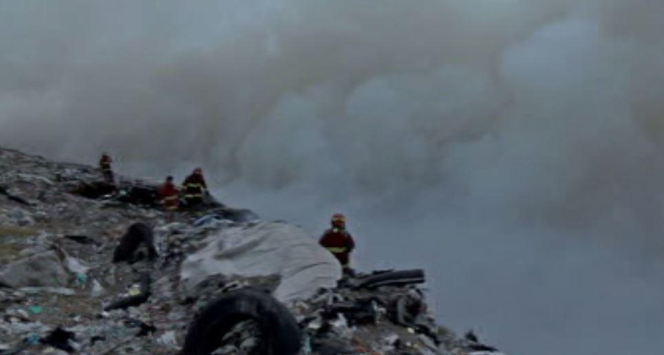 Incendio en basurero de Veracruz (Noticieros Televisa)