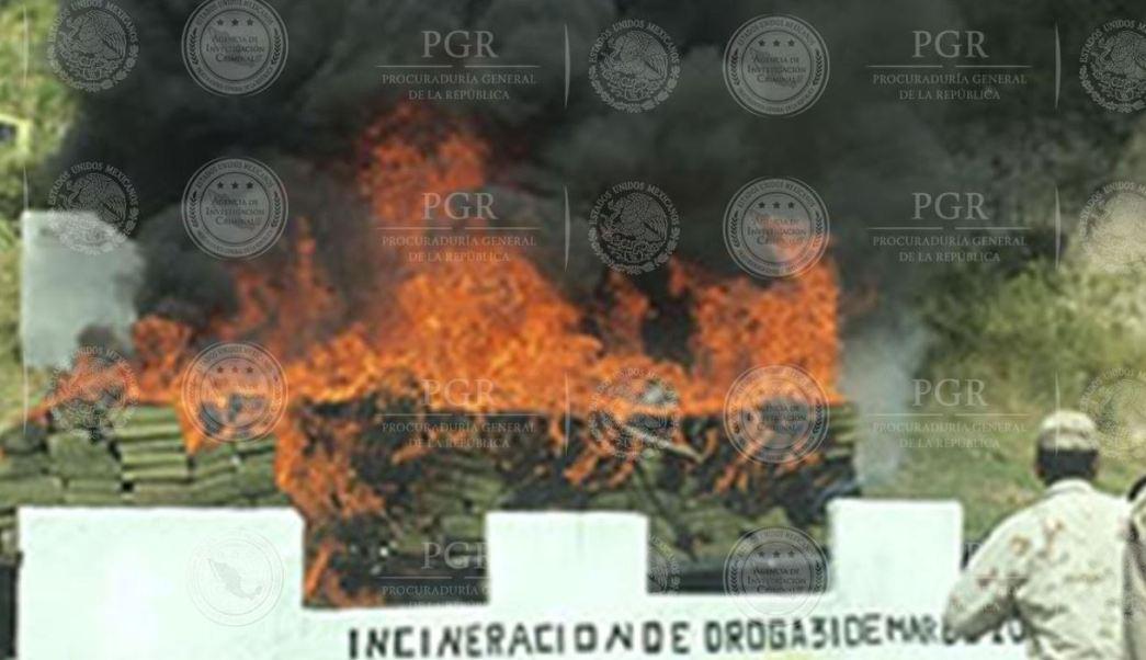 La incineración se realizó en el 28 Batallón de Infantería en Tijuana (PGR)