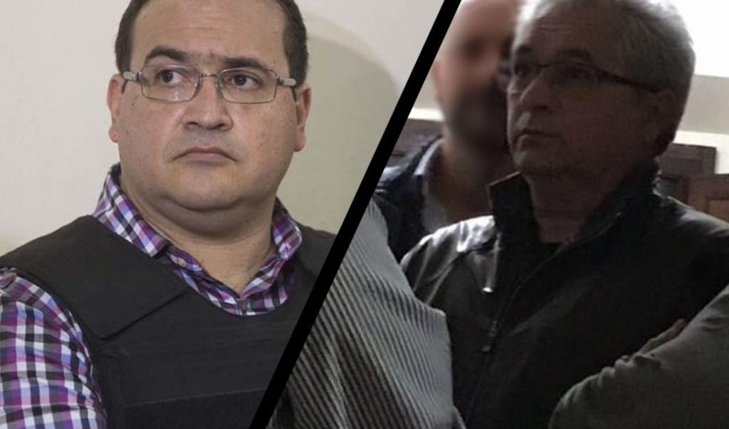 Los exgobernadores Javier Duarte y Tomás Yarrington. (Noticieros Televisa)
