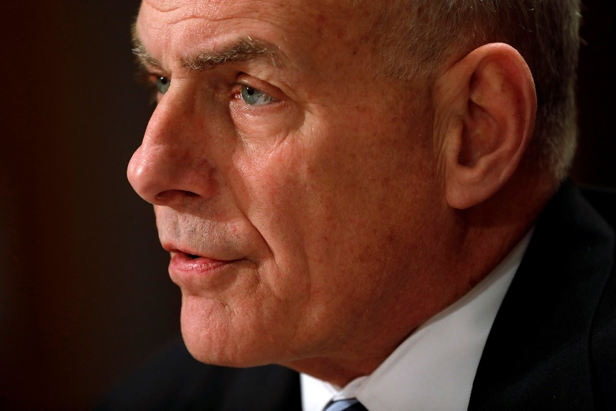 El secretario de Seguridad Nacional, John Kelly, testifica ante una audiencia del Senado sobre seguridad fronteriza en el Capitolio de Washington (Reuters)