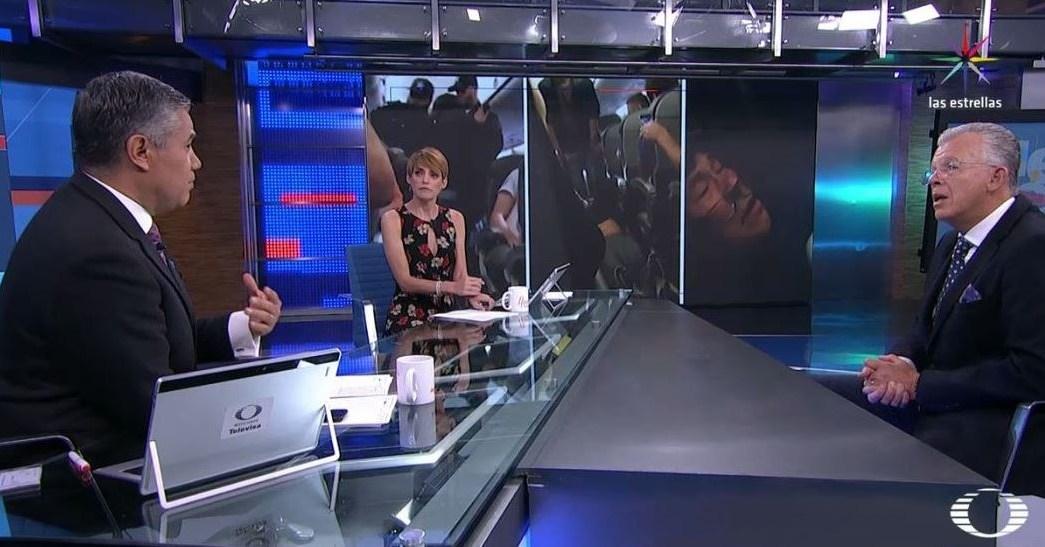 Leonardo Sánchez, en la mesa de Despierta con Loret. (Twitter, @NTelevisa_com)