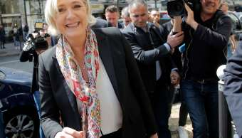 Marine Le Pen, candidata ultraderechista a la presidencia de Francia.