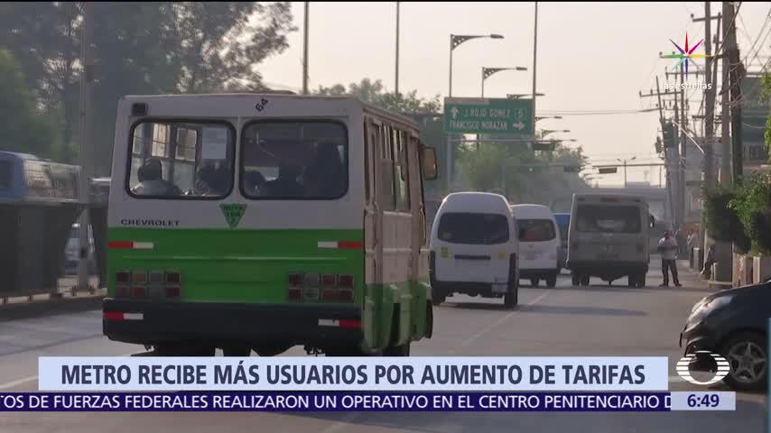 Metro CDMX recibe más usuarios por aumento de tarifas de transporte