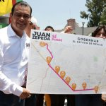 Juan Zepeda, candidato del PRD a la Gubernatura del Edomex, visitó el municipio de Los Reyes La Paz. (Twitter @JuanZepeda_)
