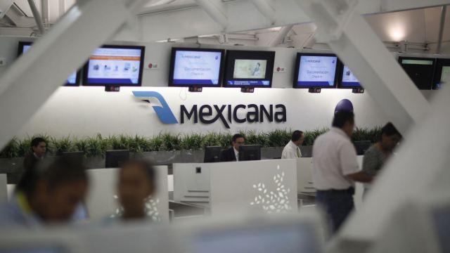 Módulo de atención de Mexicana de Aviación del AICM. (AP, archivo)