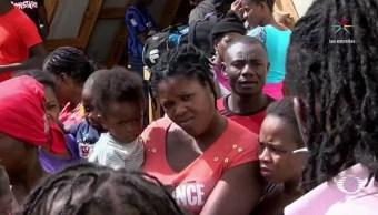 Tras la llegada masiva de haitianos a Tijuana, los migrantes que ya han regularizado su situación; han sido contratados por maquiladoras de la zona. (Noticieros Televisa)