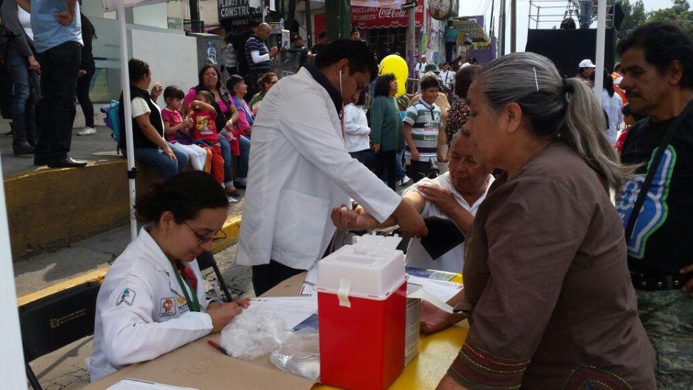 Módulo de atención sanitaria en Iztapalapa (Sedesa)