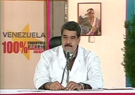 Nicolás Maduro, presidente de Venezuela, durante un mensaje a la nación.